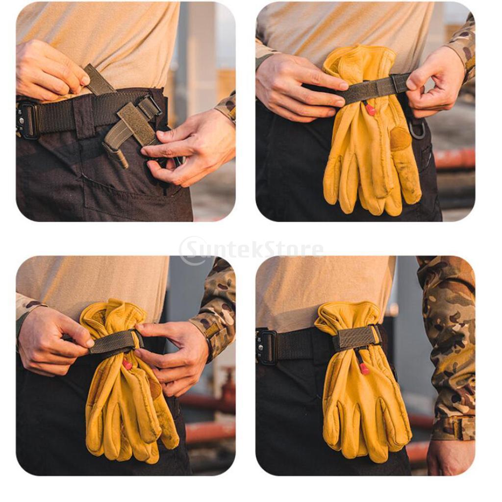 Nylon Glove Holder Strap Grabber Camping Rope Hanger Webbing Rotatable Clip Climbing Camping Hiking Ropes Holder Hanger