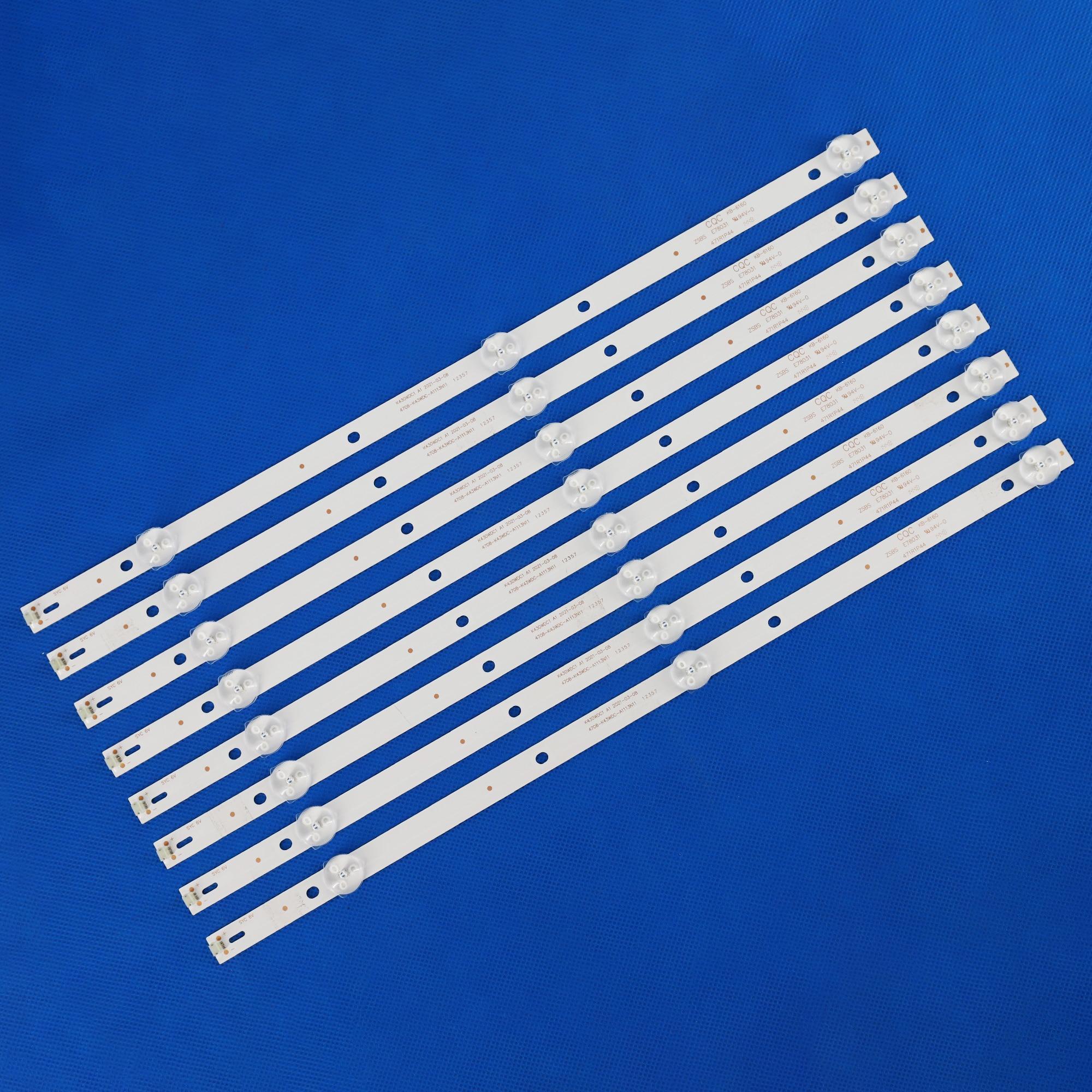 40 PCS LED  strip for Philips 43DL4012N/62 43HFF5952 43BDL4012N/62 43PFT4002 L43E6800 43L1600C K430WD9 K430WDK3 K430WDC1