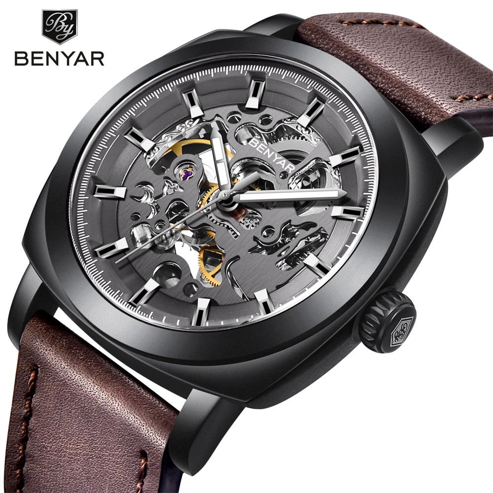 BENYAR Men's Watches Top Brand Luxury Business Automatic Mechanical Watch Men Waterproof Sport Wrist