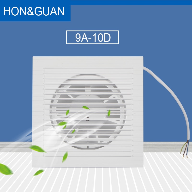 Hon&Guan 4 Silent Exhaust Fan Strong Power Air Extrator for Wall  Ceiling Window Ventilator Ventilation Household 110V/240V