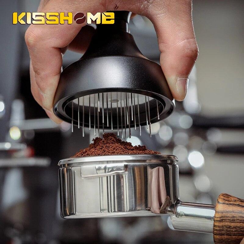 MHW-3BOMBER إبرة نوع القهوة الموزع 58 مللي متر 304 الفولاذ المقاوم للصدأ اكسسوارات دليل BaristaTools العبث 58 مللي متر مستوي