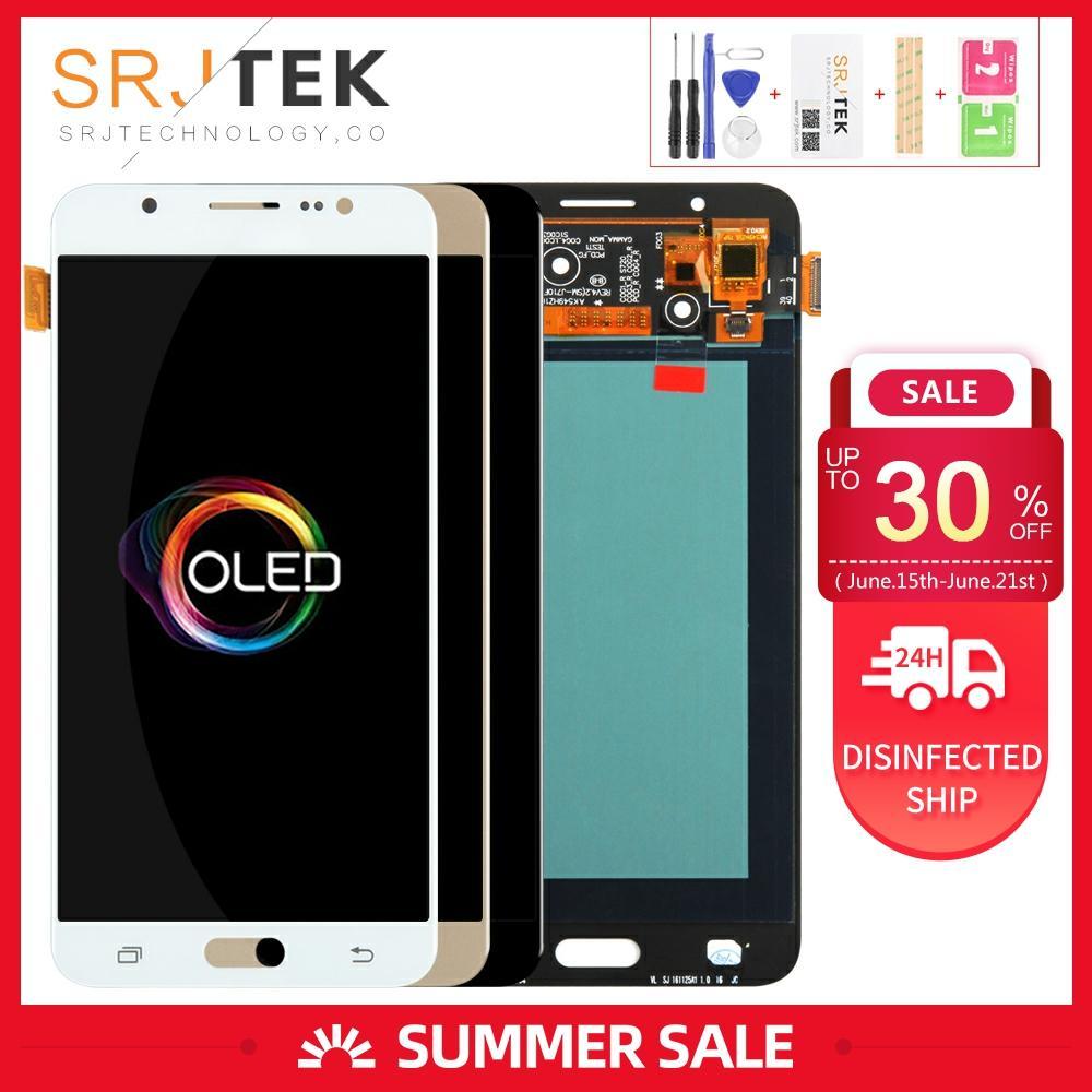 OLED 5,5 para Samsung Galaxy J7 2016 J710FN LCD pantalla J710 pantalla J710F Touch digitalizador montaje de cristal con marco J710F LCD