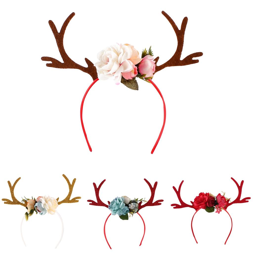 Diadema para el pelo con cuernos de venado y Diadema DIY, regalo de Navidad novedoso para bebés y niños