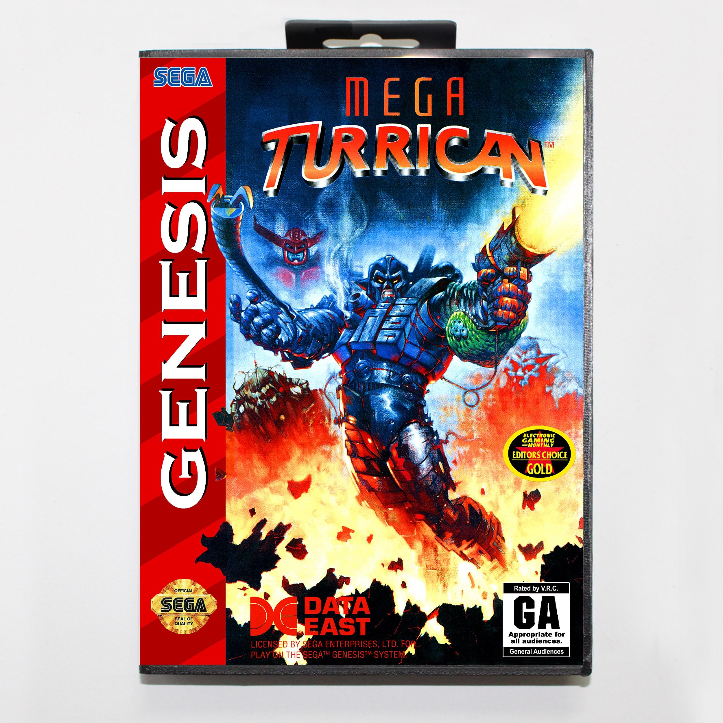 Mega Turrican versión en caja 16bit tarjeta de juego MD para Sega...