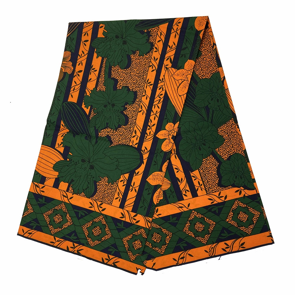 African cotton Wax Prints Fabric 6yard Ankara New real wax High Quality African Fabric for Party Dress sewing недорого