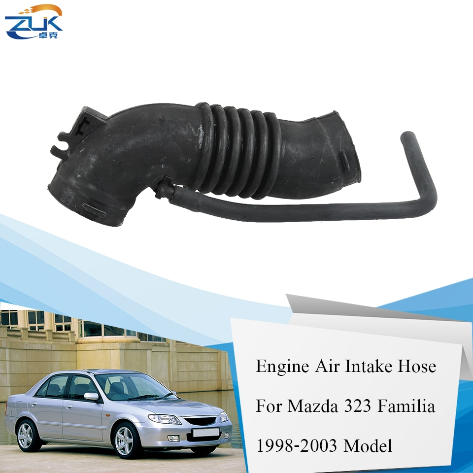Zuk motor do carro ar mais limpo tubo de fluxo de ar mangueira entrada de ar para mazda 323 familia protege 1.5l 1.6l 1998 1999 2000 2001 2002 2003
