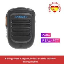 Anysecu 4.2 version Microphone Bluetooth pour TM-7plus W7 W7plus 3G/4G Radio REALPTT ZELLO prise en charge Microphone portable sans fil