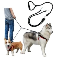 double leashes detachable rope leash no tangle foam cotton handle 1 leash for 2 or 3 or 4 dogs running or training rope leash