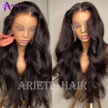 AR 100% Human Hair Body Wave Lace Front Wig 28 30 Inch Human Hair for Black Women Pre-Plucked With Baby Hair Remy 4x4 Lace Wig