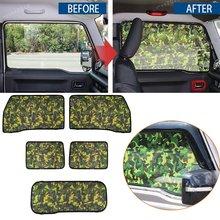 Camouflage Full Window Sunshas Shade Curtain Cover Trim Fit For Suzuki Jimny2019