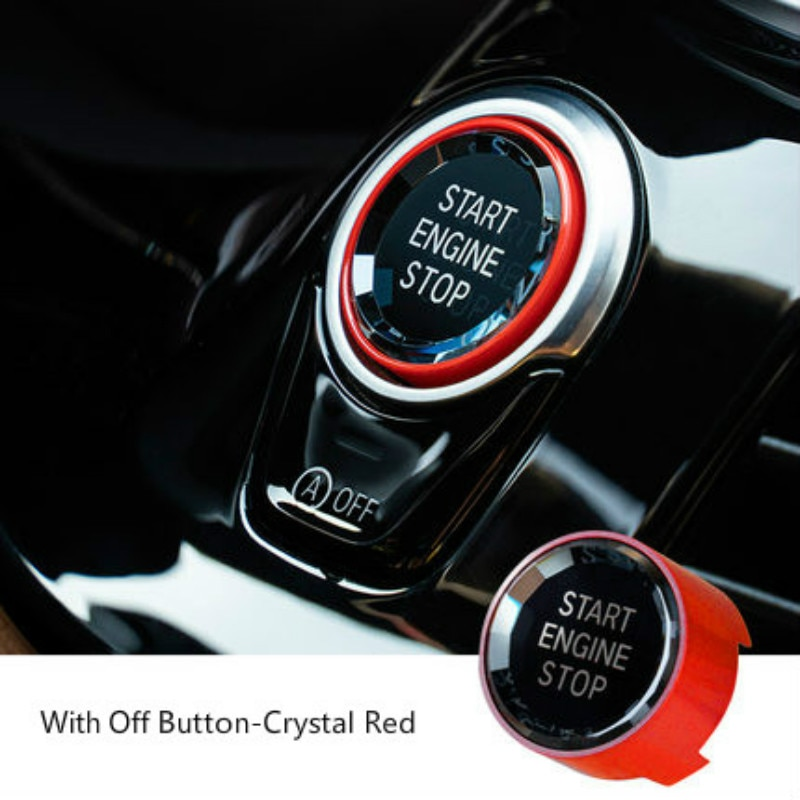 Auto Motor Start Stop Schalter Taste Aufkleber Für BMW X1 X3 X4 X5 X6 F15 F16 F48 F25 F30 F10 f20 F01 G01 G02 G30 G38 G08 G11 G12