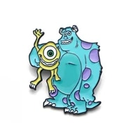 lb1630 cartoon monsters university enamel pin movie brooches bag lapel pin for badge backpacks decoration jewelry accessories