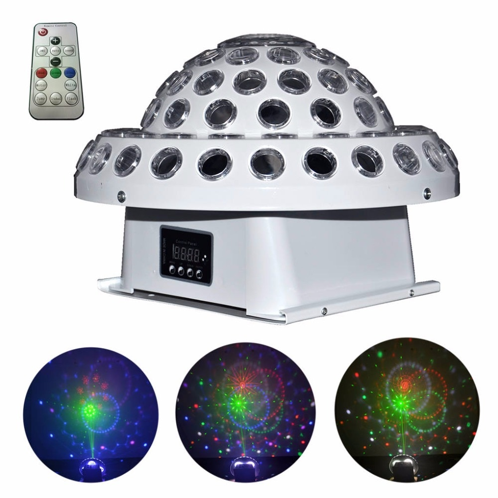 led disco light 18w dmx 512 dj rgb led party lights sound actived remote control disco lamp color changing stage lamp wedding Sound Remote Crystal Magic Ball Lamp DMX Gobo RG Laser Lights Mixed RGB Full Color LED Disco Xmas DJ Home Party Stage Lighting