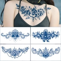 juice chest paste tattoo sticker lasting 15 days herb semi permanent tattoo sticker chest paste juice totem tattoo face stickers
