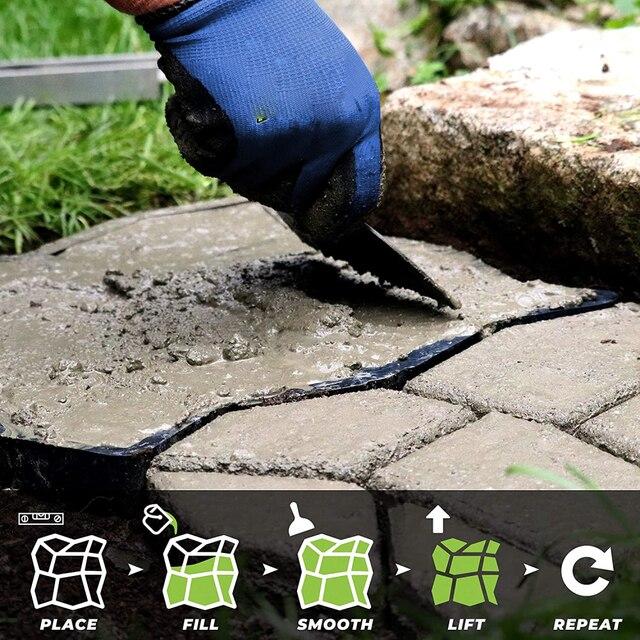 Garden Walk Pavement Mold DIY Manually Paving Cement Brick Stone Road Concrete Molds Path Maker Reusable Garden Stone Road Mold 6