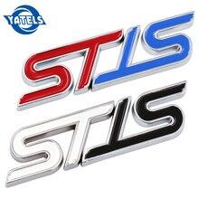 1 Pcs Metalen 3D Auto Styling St Grille Sticker Auto Head Grill Embleem Badge Chroom Sticker Voor Ford Fiesta focus Mondeo Auto