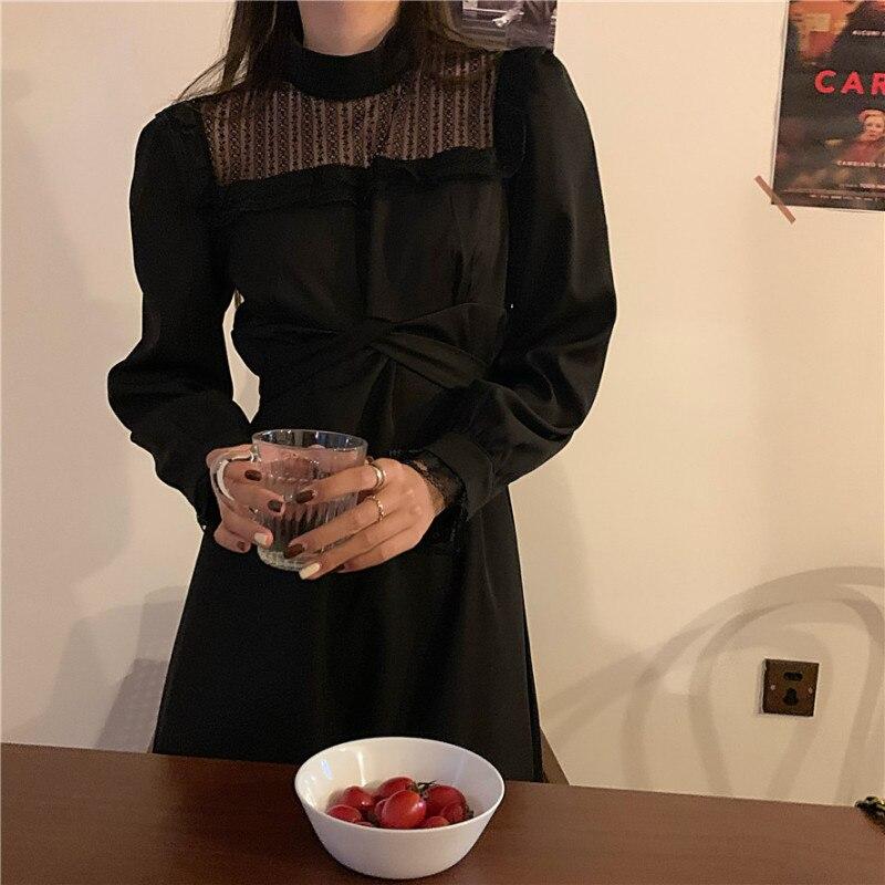 CMAZ Temperament Long Sleeve Dress Fairy French Slim Gift