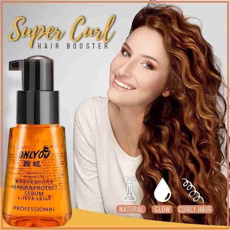1Pc 70ml Moroccan Pure Argan Oil Hair Essential Oil For Dry Damaged Hair & Scalp Treatments Natural Nourishing Hair Serum
