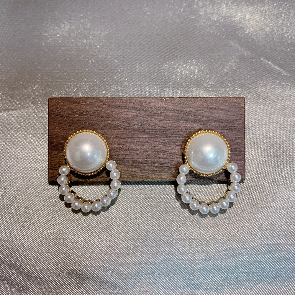 Coreano nuevo perla pendientes para las mujeres simple redonda bonitos llamativos pendientes joyería de moda coreana 2020 regalo pendientes