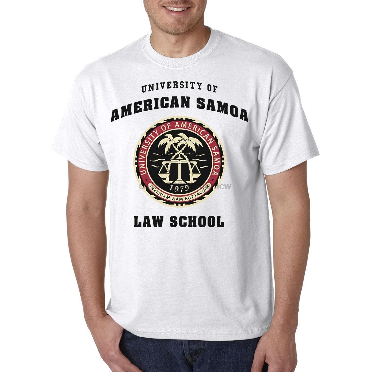 Camiseta de Escuela de Derecho de la Universidad de Samoa Americana-Heisenberg Saul Goodman