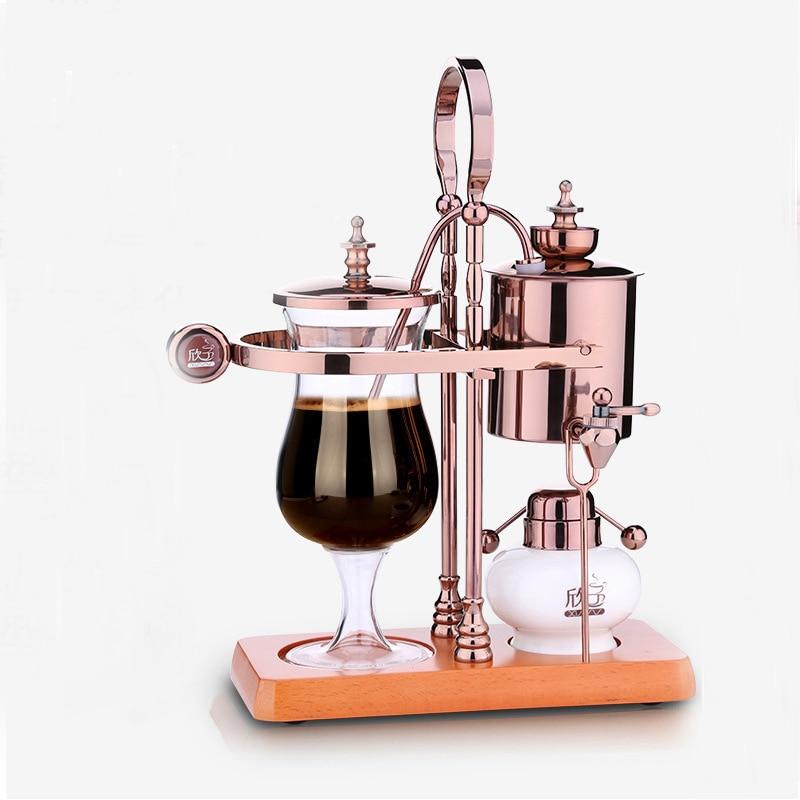 Nuevo diseño, máquina de café de sifón café de equilibrio real de gota de agua/máquina de café de Bélgica syphon vacumm, cafetera