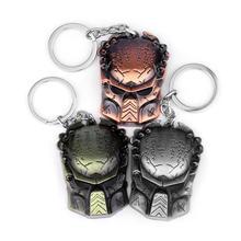 Cool Iron Mask Aliens & Predator - Requiem Metal Mask Key Chain Movie Jewelry Terror Punk Men Charm Keyring Gift Drop Shipping
