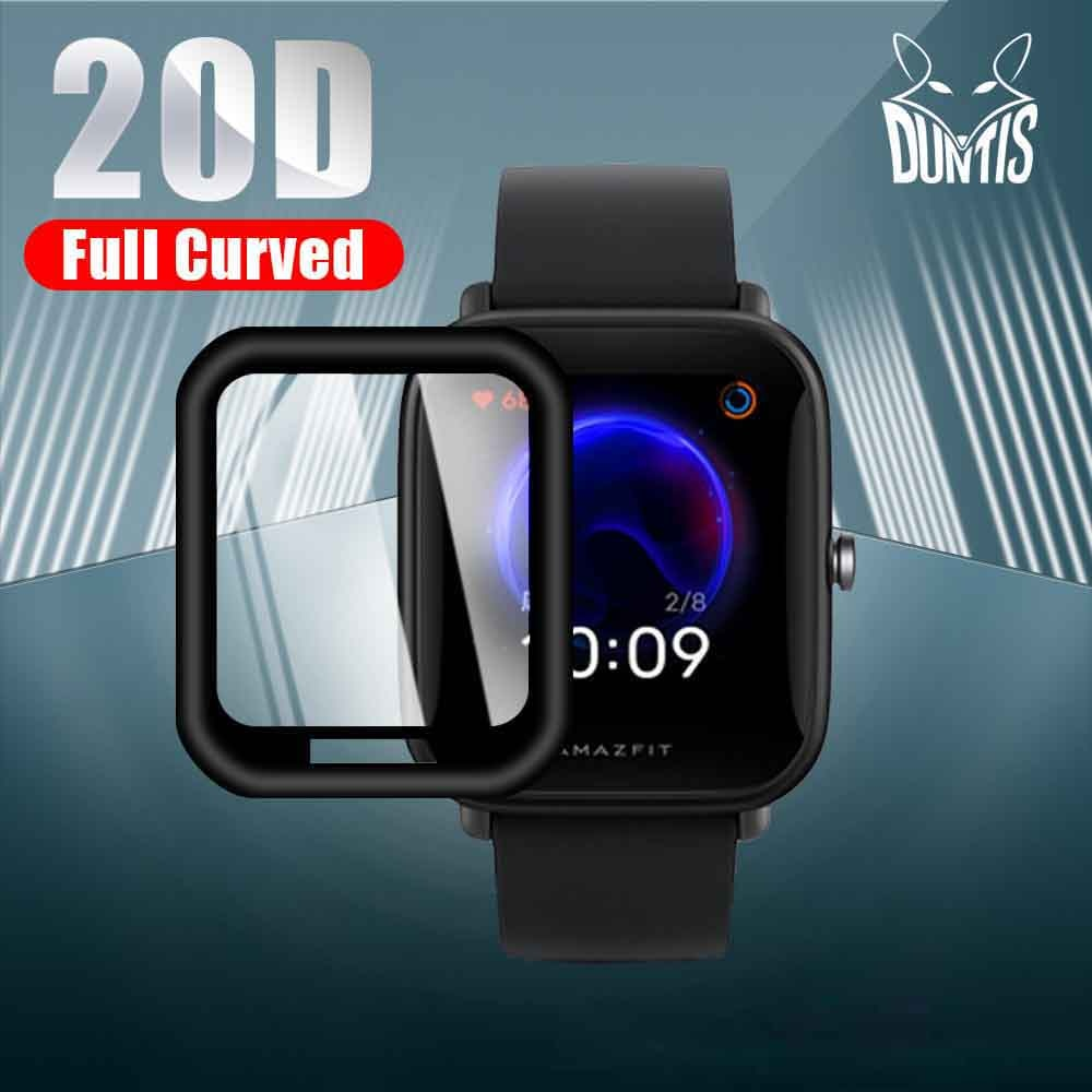 20D Curved Edge Protective film For Amazfit Bip U / U Pro Smart watch Soft Screen Protector Accessories (Not Glass)