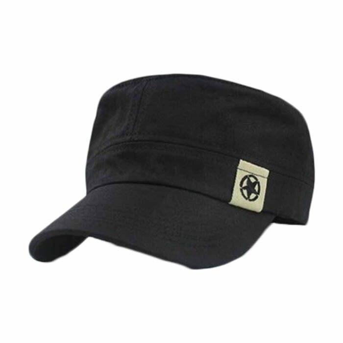 Gorra militar de techo plano, gorra de Cadet Patrol Bush, gorra de campo de béisbol Bk, gorra de béisbol de Color sólido, gorras ajustadas