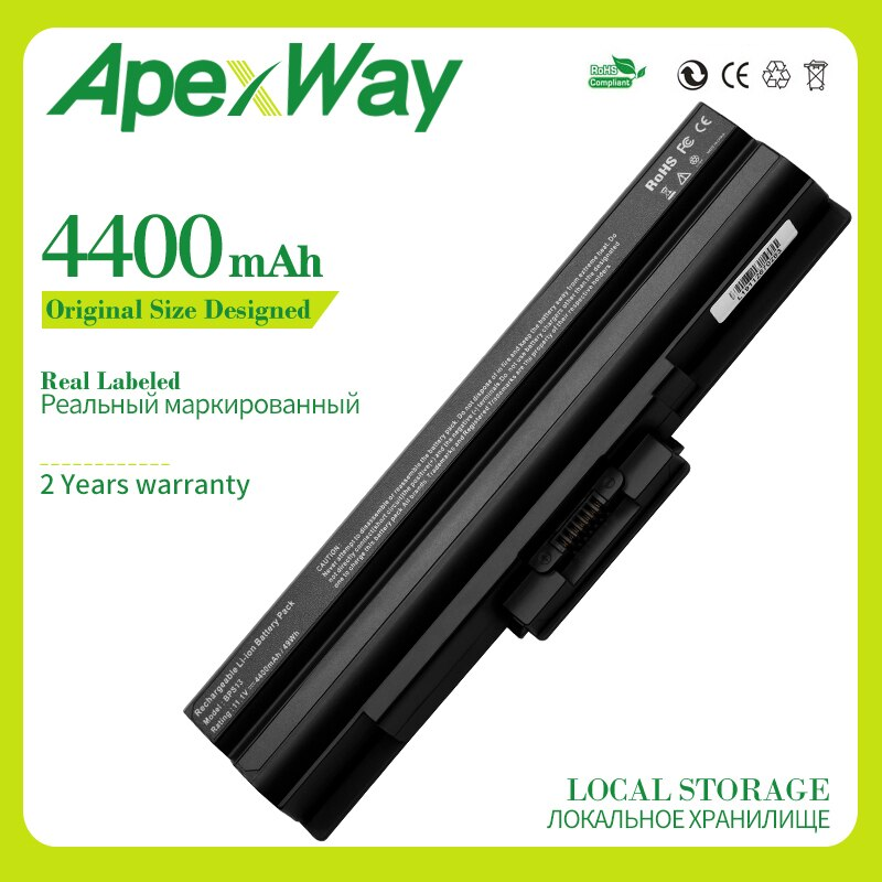 11,1 V 4400mAh batería para SONY Vaio VGN-AW VGN-CS VGN-FW VGN-NS VGN-NW BPS13/B/VGP BPS13/Q/VGP-BPS13B/B/VGP-BPS13A/B/VGP-BPS13/B