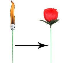 Truco de magia Rosa divertido presente antorchas cambiar rosas trucos de magia novedad sorpresa broma juguete divertido místico