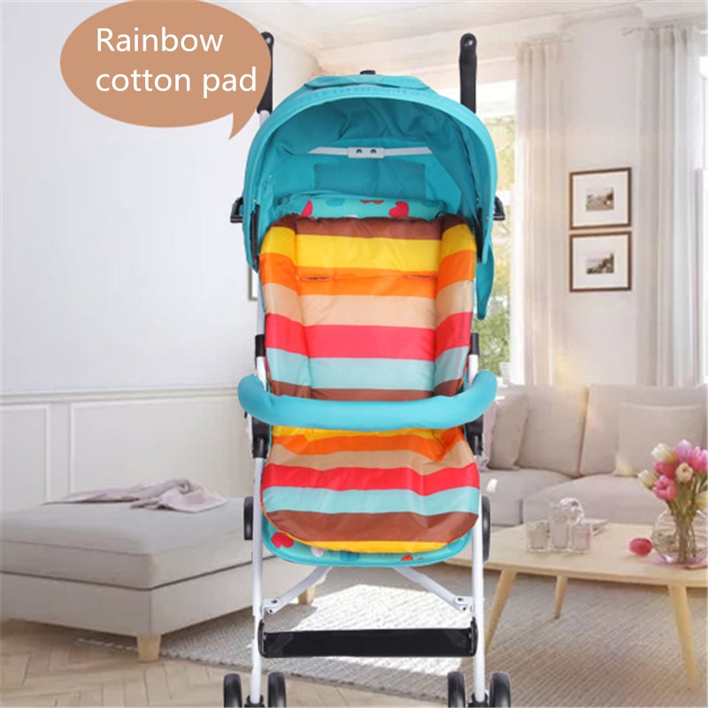 Cojín para silla de bebé, cochecito de bebé, cochecito de silla alta, colchones suaves coloridos, alfombrilla para asiento, accesorios para silla de bebé