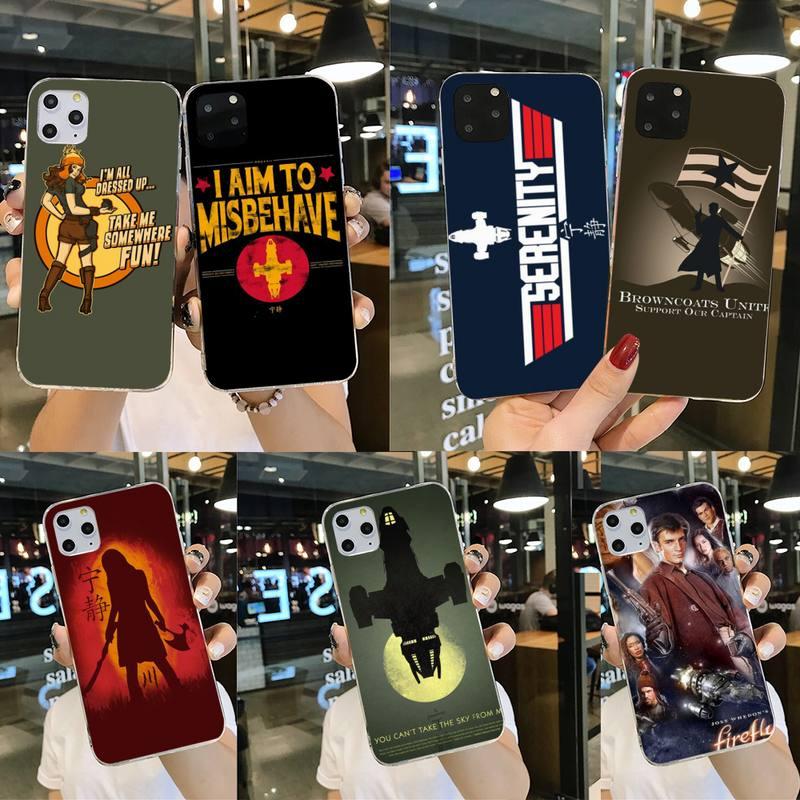 Diseño luciérnaga cartel de programa de tv cliente de alta calidad teléfono caso para iPhone 11 pro XS MAX 8 7 6 6S Plus X 5S SE 2020 XR cubierta