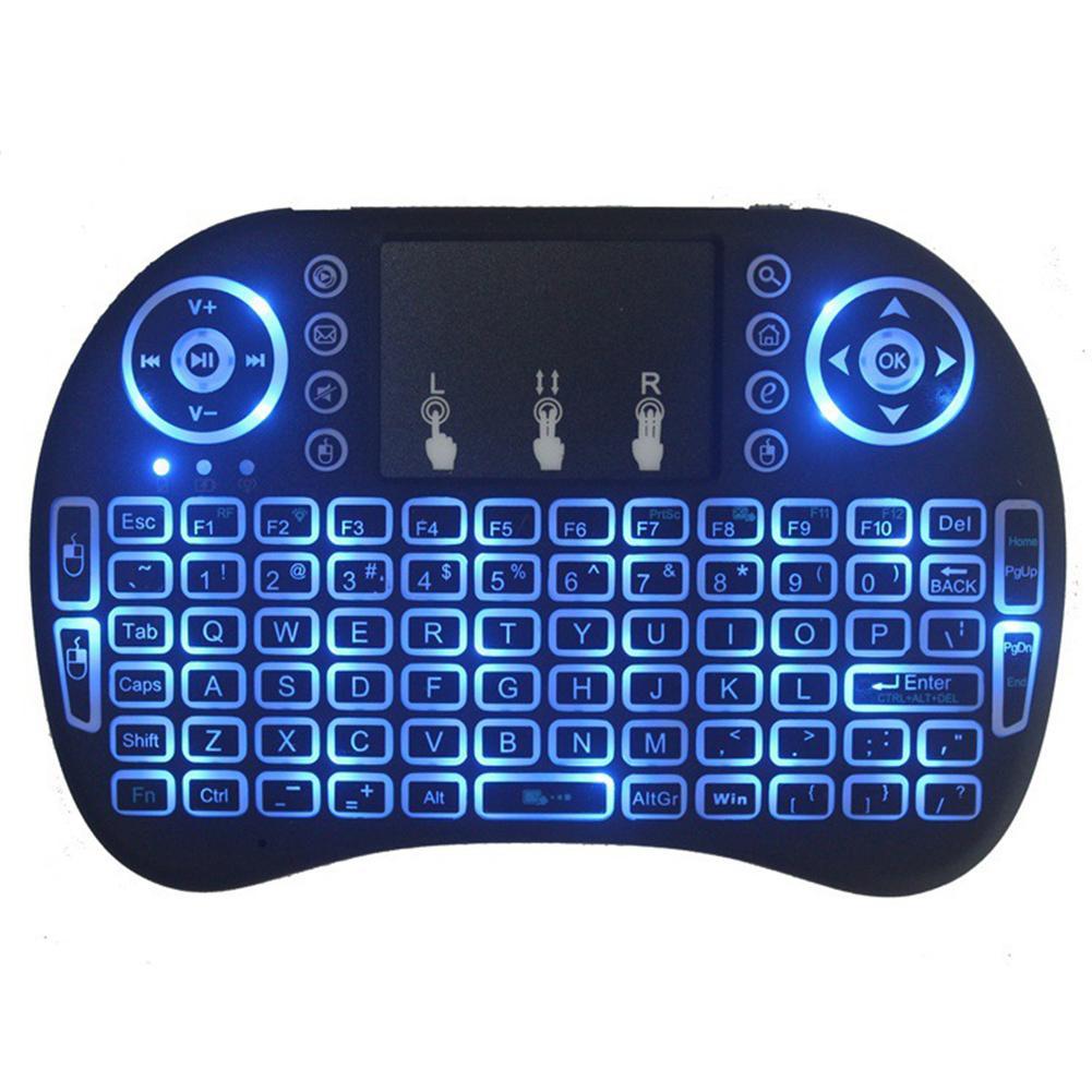 Mini teclado inalámbrico Bluetooth ergonómico i8 de 2,4 GHz con Touchpad para Xbox 360, Tablet HTPC/Mini PC/TV BOX