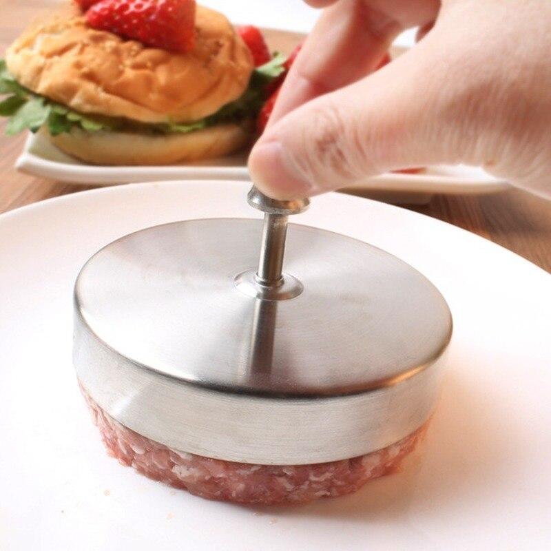 Prensa de hamburguesas de acero inoxidable, molde para hojaldre de carne DIY, parrilla de ternera, prensa de hamburguesas, utensilio de cocina