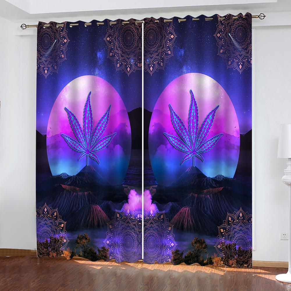 Cortinas para sala de estar, dormitorio, Cortinas púrpuras, Cortinas de cocina