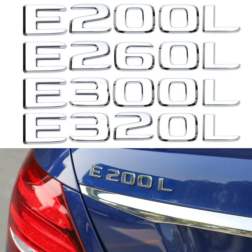 E200L E260L E300L E320L etiqueta engomada del emblema de la letra del maletero trasero Logo 3D para Mercedes Benz AMG Clase E sintonización del coche ajuste Accesorios