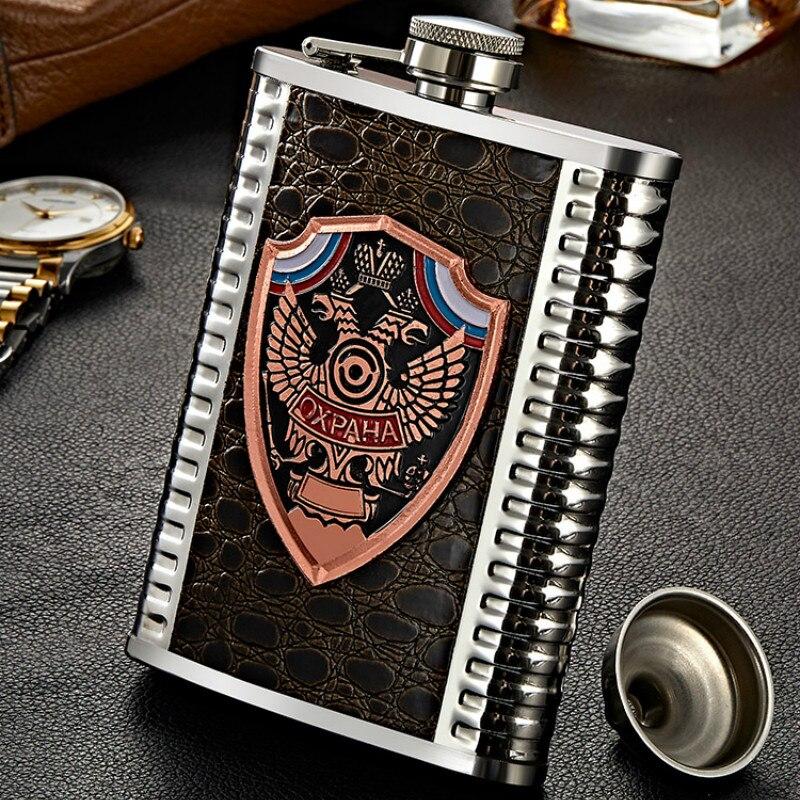 Frasco de Metal de lujo personalizado para hombres, frasco de acero inoxidable,...