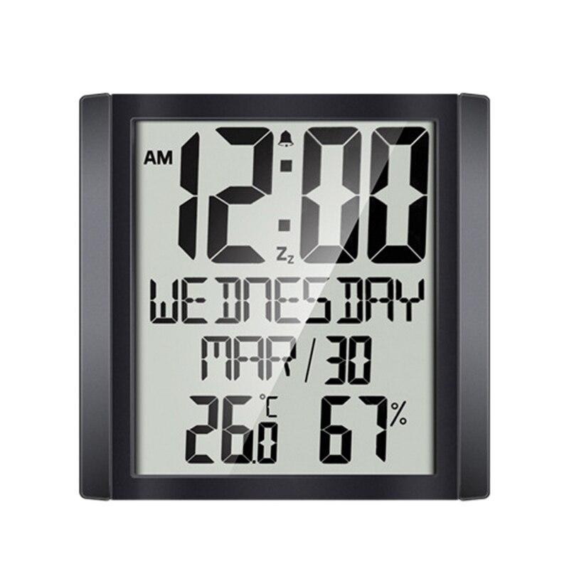 Reloj de pared grande Sn, medidor de temperatura y humedad para el hogar, despertador, reloj electrónico Digital para la sala de estar