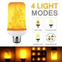 2021 Новый светодиодный динамический с эффектом пламени светильник лампочка E27 B22 E14 светодиодный кукурузы лампа творческий мерцание 12 Вт све...