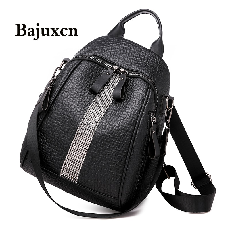 Brand silver diamond backpack 2020 new elephant pattern bag youth girl travel bag designer design high quality