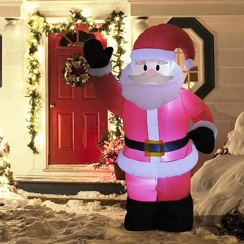 كبير نفخ سانتا كلوز في الهواء الطلق حديقة عيد الميلاد LED ضوء الليل كلوز 4FT 120 سنتيمتر تأثيرات الضوء للعب زينة عيد الميلاد