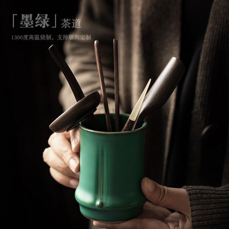 shozo sato tea ceremony Creative tea ceremony six gentlemen ceramic kung fu tea set with tea spoon, tea clip, tea set, tea ceremony accessories
