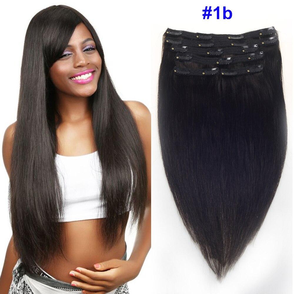 Sindra-وصلات شعر برازيلية طبيعية ريمي مع مشبك ، شعر ناعم ، لون طبيعي ، 100 جم ، 120 جم ، # 1B ، 14 بوصة إلى 22 بوصة