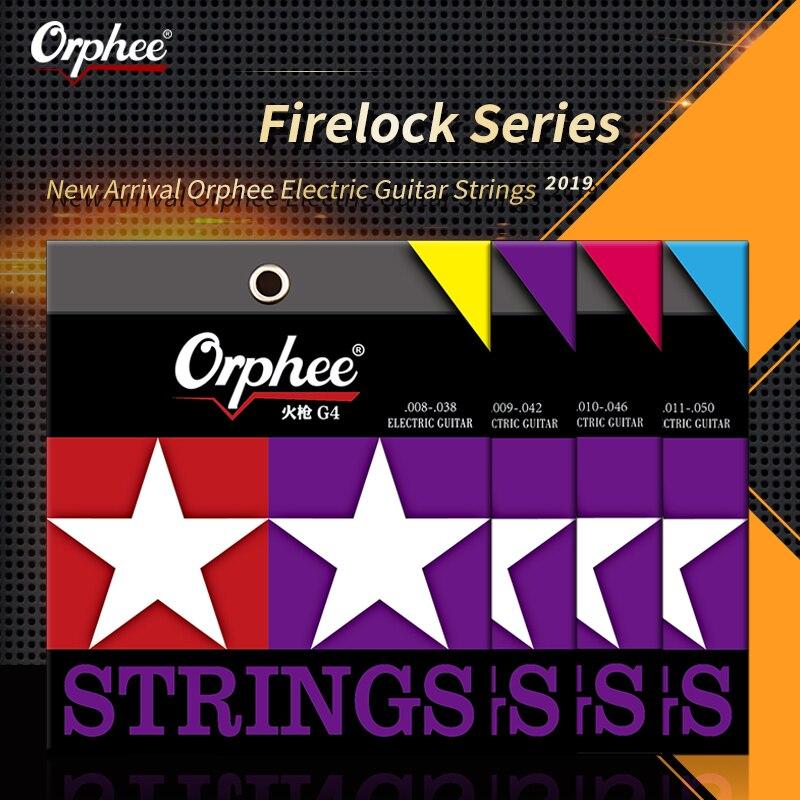 Orphee Electric Guitar Strings Set Metal Nano Coating Bronze Professional Musican Electric Guitar String Sets Guitar Accessories