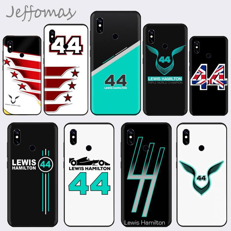 Racing racer lewis hamilton 44 caso de telefone de luxo para xiaomi mi a1 a2 5 6plus 8 9 se lite mix 2 2s max 2 3 pocofone f1