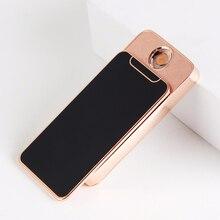 Kreative Mini iPhone Form Slip Unten Metall Winddicht Elektronische USB Zigarre Leichter Geschenk der Männer ohne box