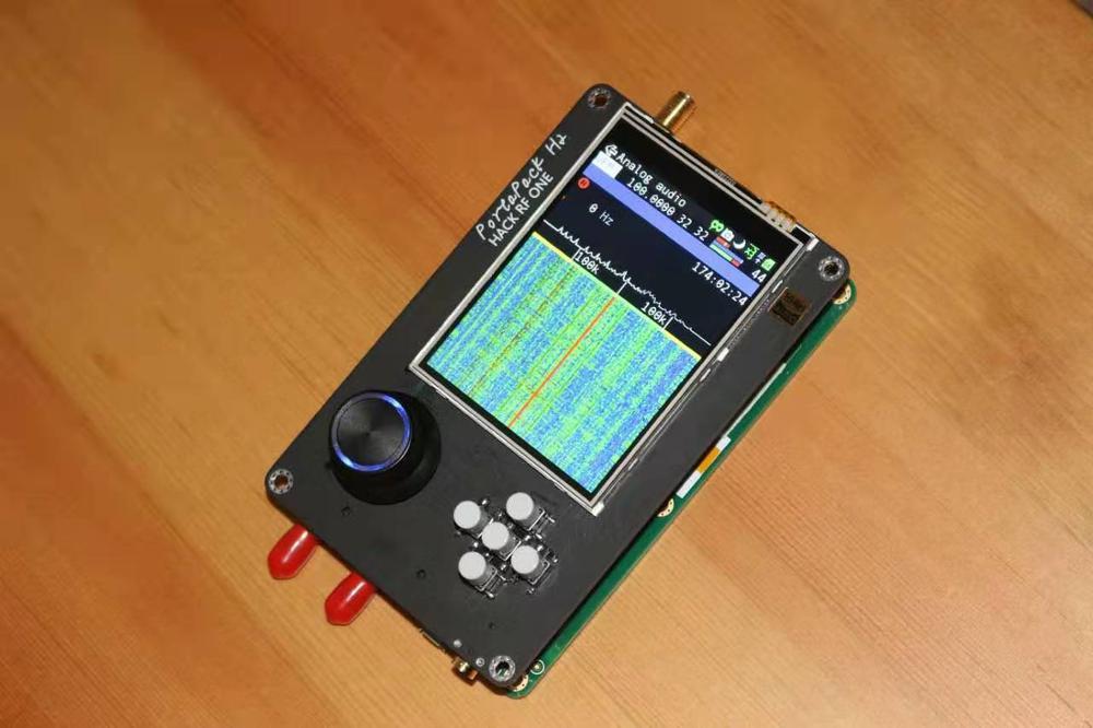 Última versión PORTAPACK H2 + HACKRF ONE SDR Radio + hamv Firmware + 0.5ppm TCXO + 3,2 pulgadas táctil LCD + batería de 1500mAh