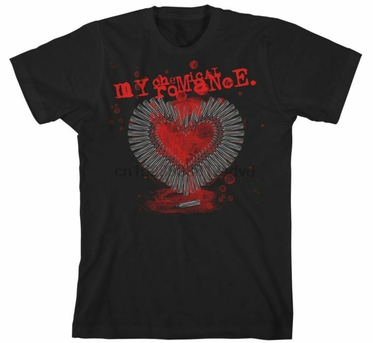 Mi químico ROMANCE-corazón balas T SHIRT S-3XL nuevo oficial King Road Merch Camiseta Hombre Hipster camisetas