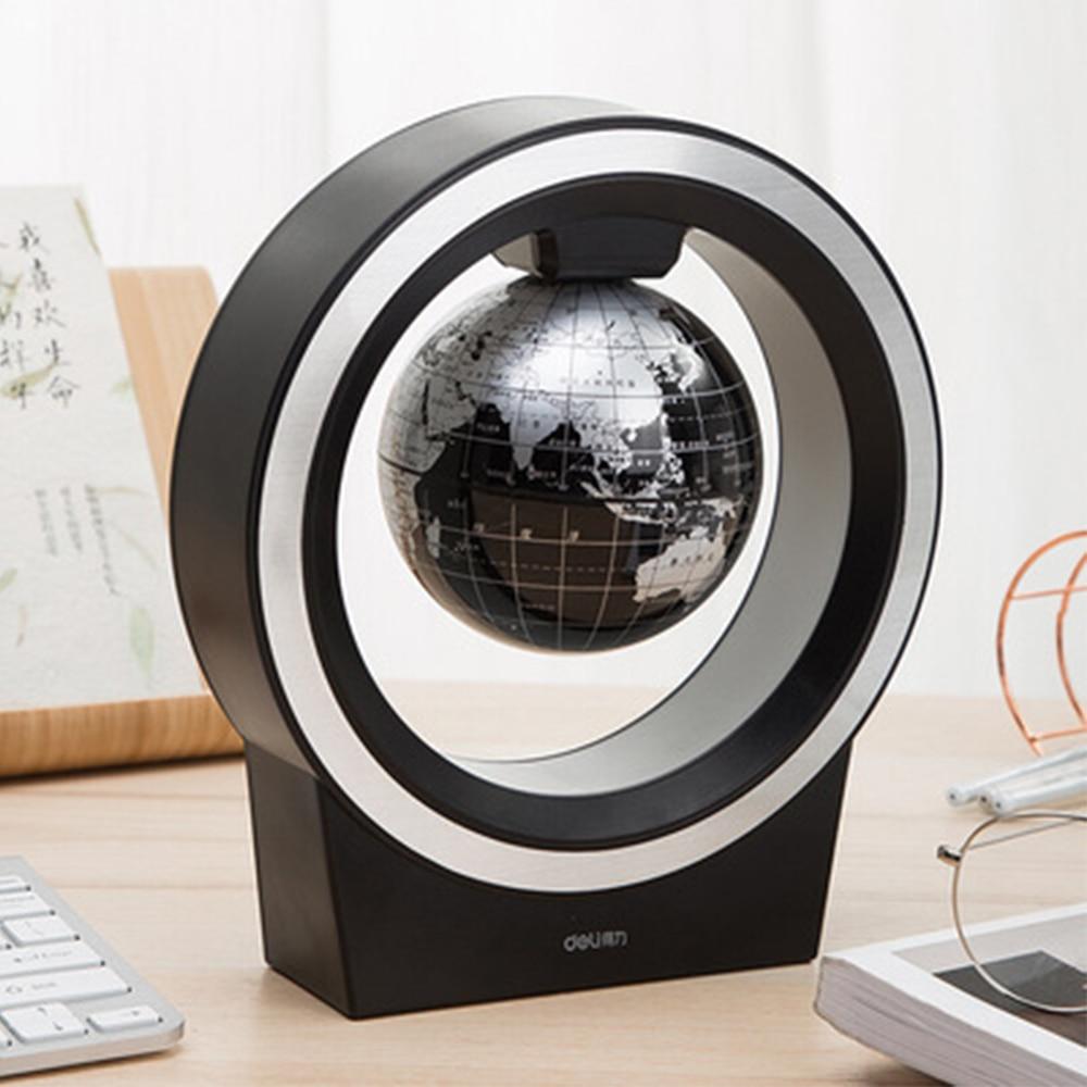 O Shape Magnetic Levitation Globe LED Light Anti Gravity Floating World Map Lamp