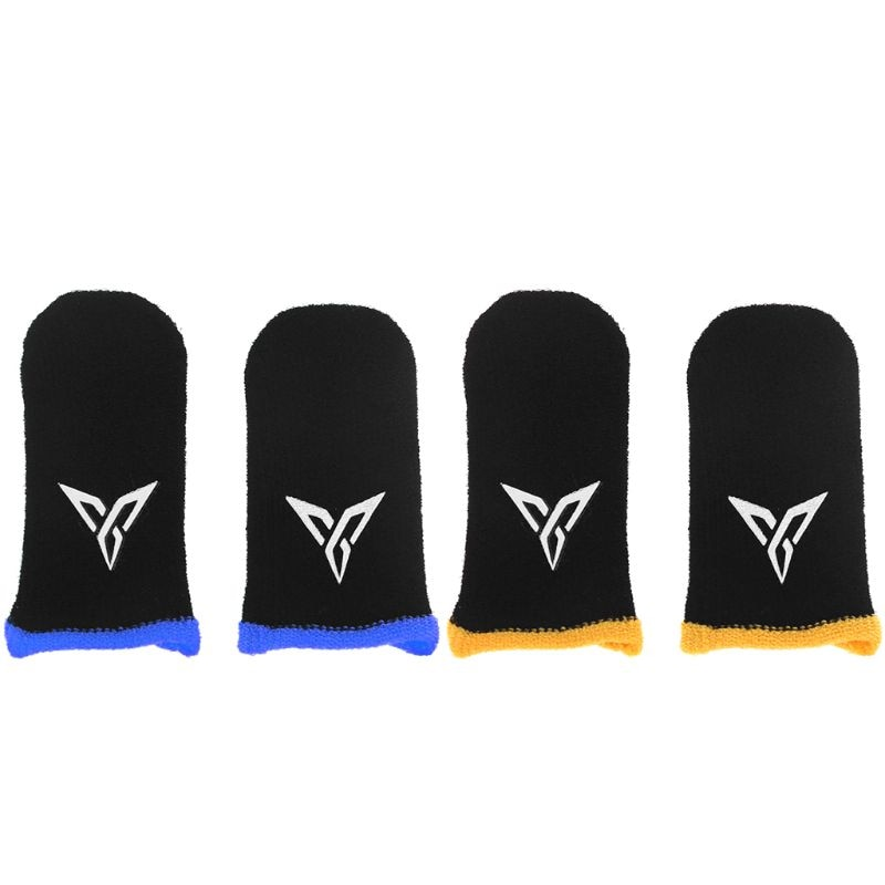 1 Pair Breathable Mobile Game Controller Finger Sleeve Touch Trigger for PUBG